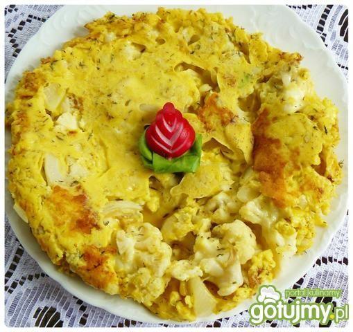 Oszukana tarta kalafiorowo - serowa