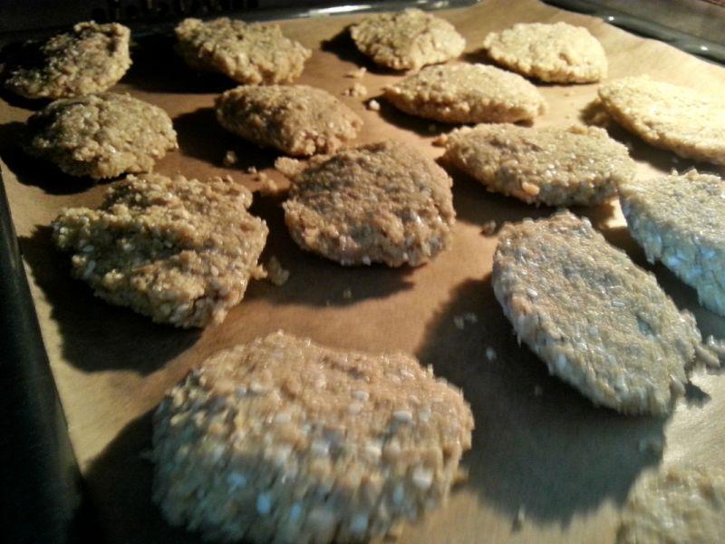 Owsiane ciasteczka z ziarnami