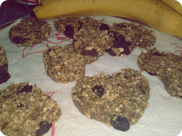 Owsiano bananowe ciasteczka
