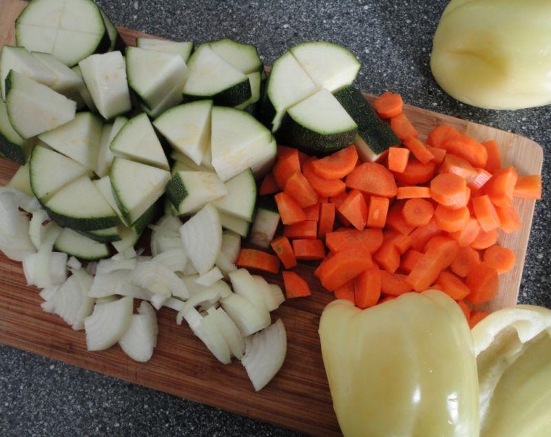 Ozorki na warzywnej pierzynce