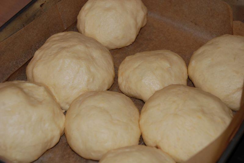 Pączki odrywane z piekarnika