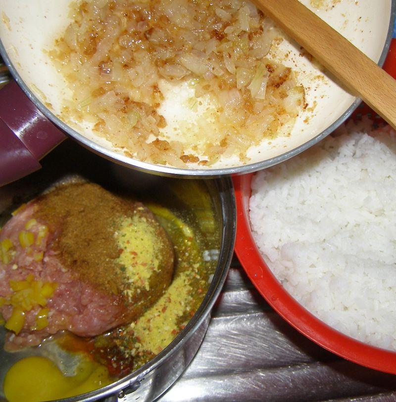 Papryka drobiowo-ryżowa.
