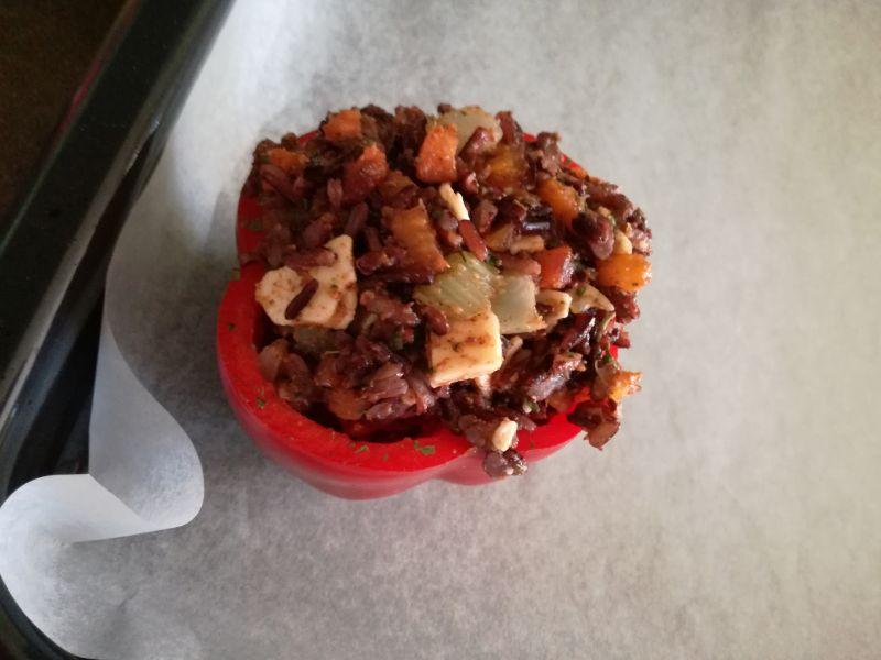 Papryka zapiekana z czarnym ryżem