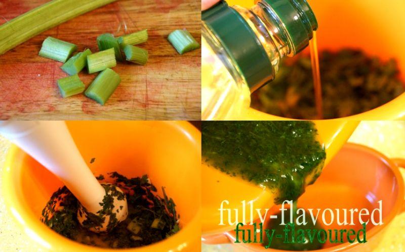 Parowane szparagi i kalafior z dodatkami