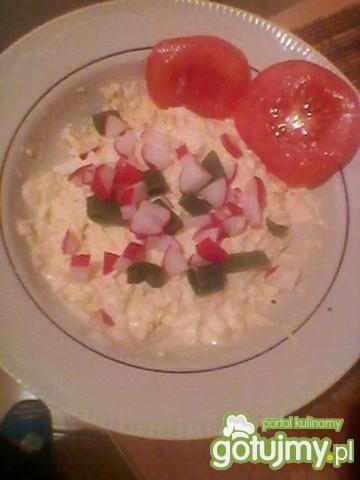 pasta jajeczna z jogurtem