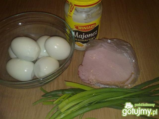 Pasta jajeczna z szynką 2