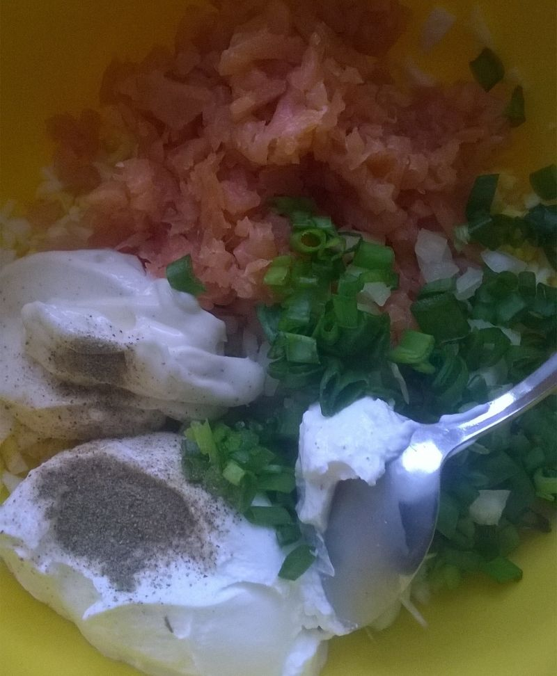 Pasta jajeczno - łososiowa