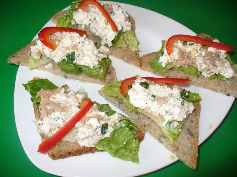Pasta z białego sera z tuńczykiem