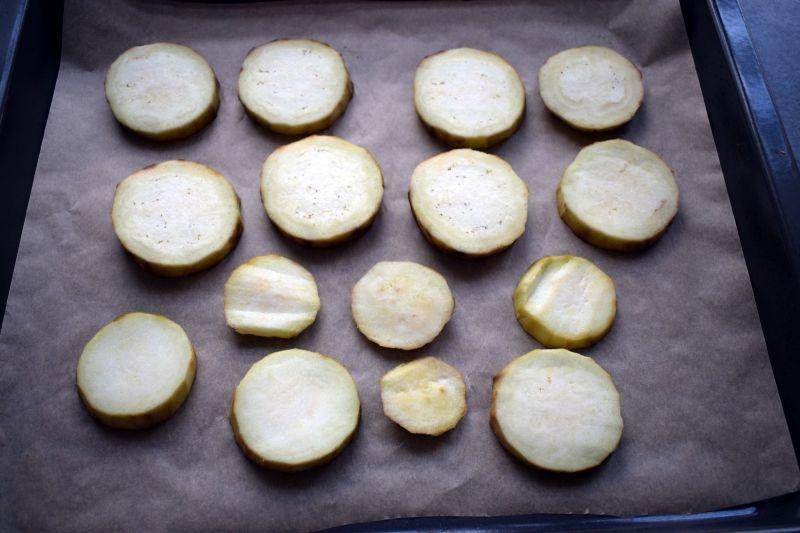 Pasta z pieczonego bakłażana i szpinaku