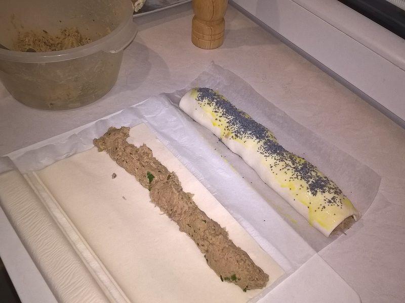Paszteciki z mięsa z rosołu