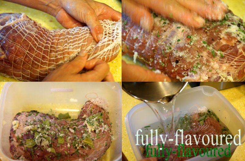Peklowana szynka z rozmarynem