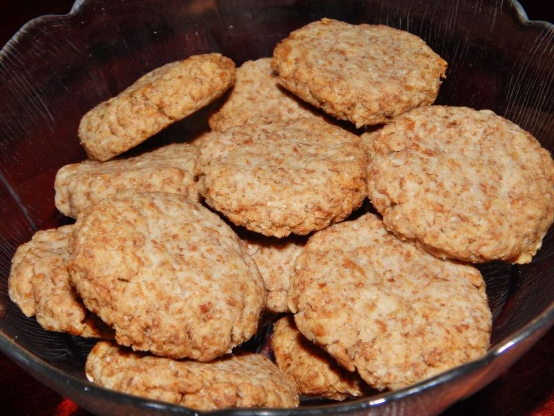 Pełnoziarniste ciasteczka na trawienie