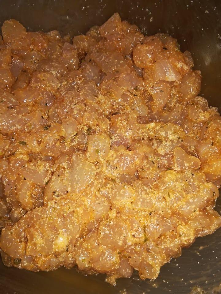 Pieczeń (mozaika) drobiowa z piersi kurczaka