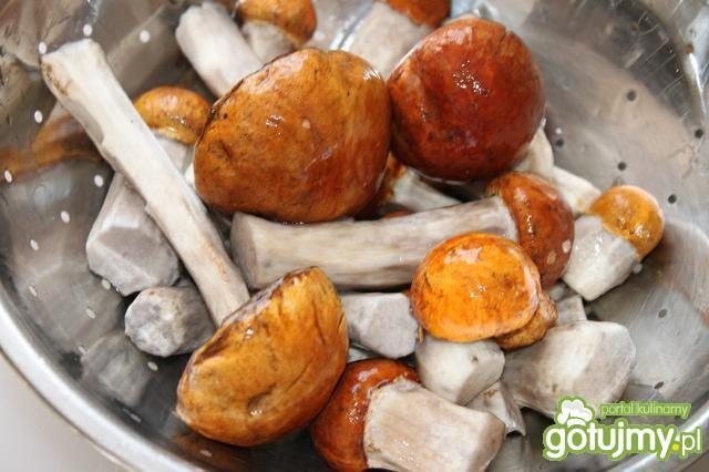 Pieczeń z grzybami