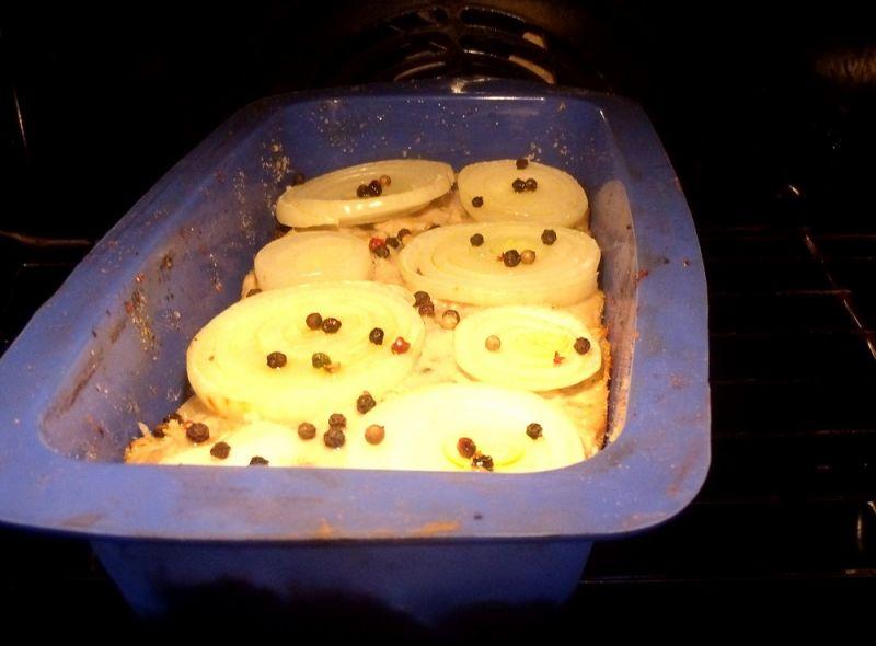 Pieczeń z pieczarkami bez jajek