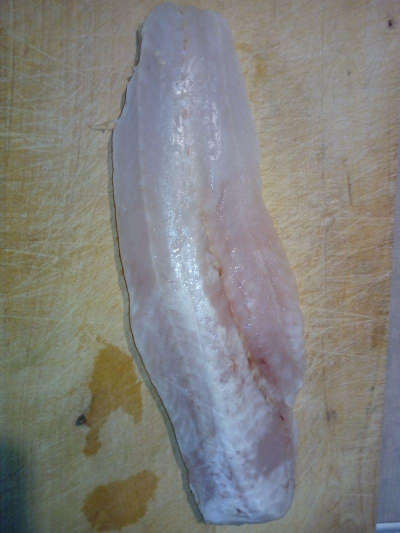 Pieczona ryba z frytkami