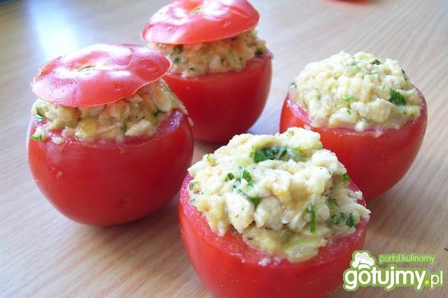 Pieczone nadziewane pomidory