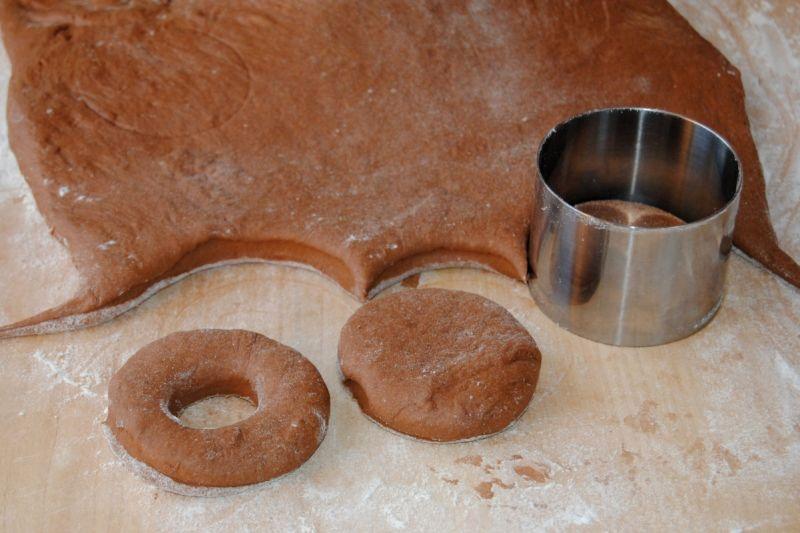 Pieczone pączki-murzynki