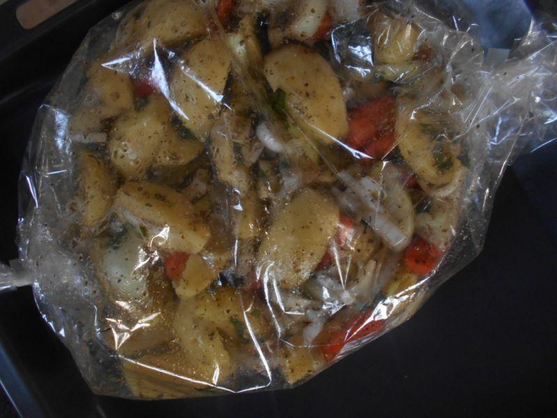 Pieczone ziemniaczki z dodatkami
