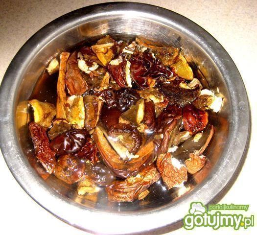 Pierogi z kaszą, mięsem i grzybami