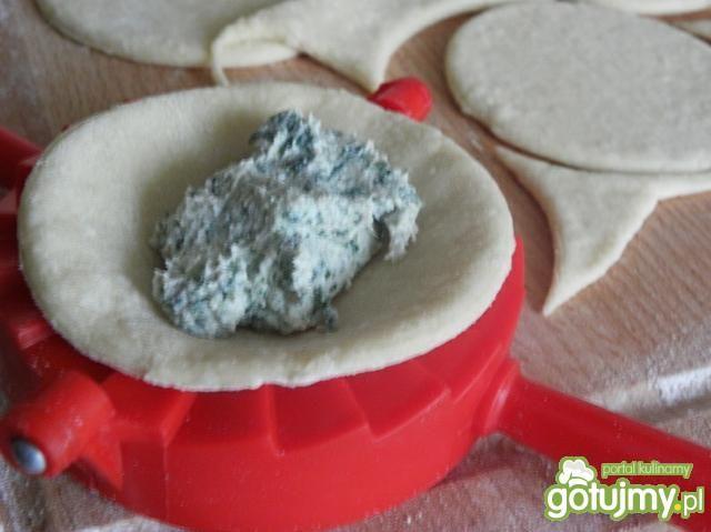 Pierogi z serem,mięsem i szpinakiem.