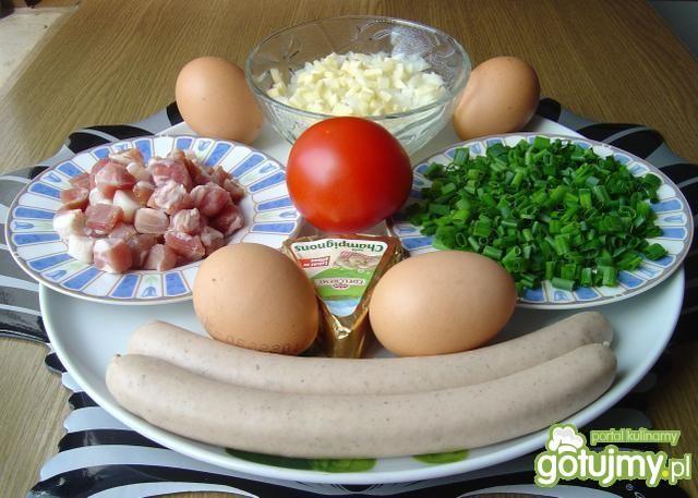 Pikantna Jajecznica z Serem Pieczarkowym