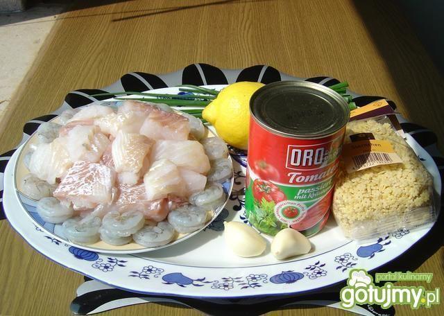 Pikantna zupa rybna z krewetkami