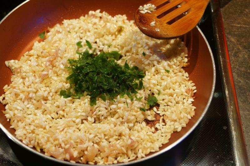 Piwne risotto z wieprzowiną