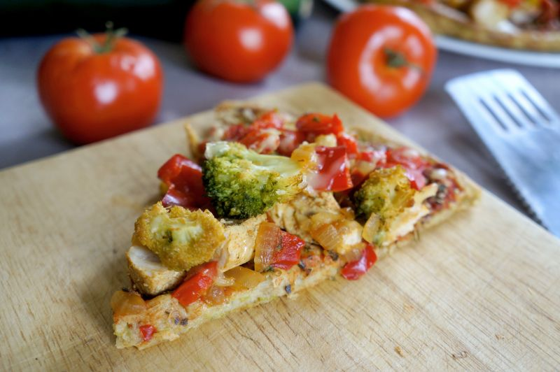 Pizza na cukiniowym spodzie
