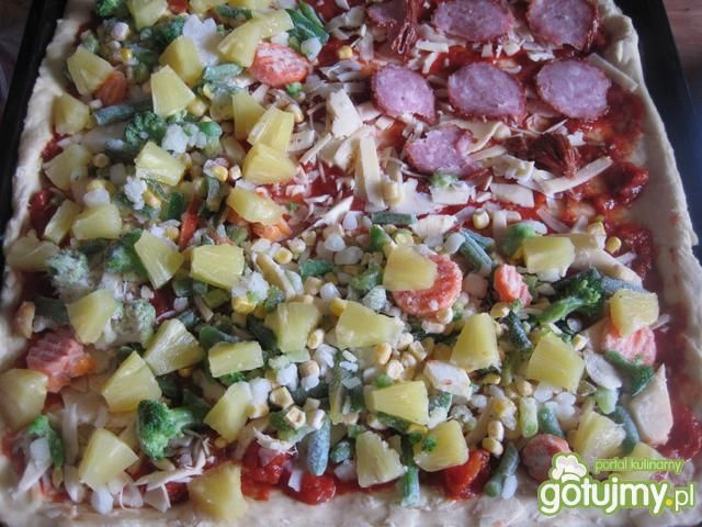 Pizza o dwóch smakach