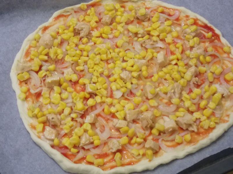 Pizza z kurczakiem curry