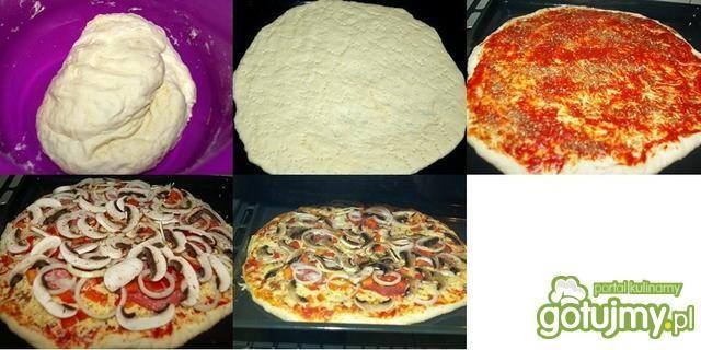 Pizza z salami.