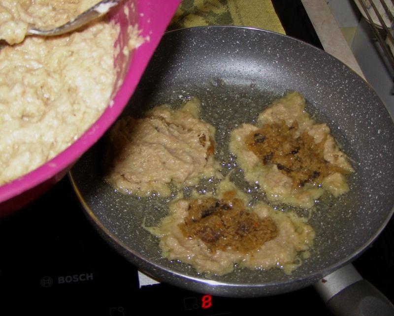 Placki kartoflane z kiszoną kapustą,pieczarkami
