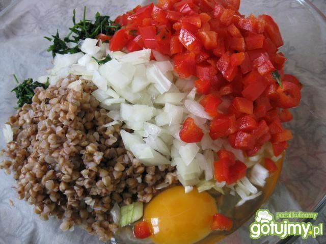 Placki warzywne z kaszą gryczaną