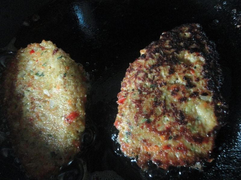 Placki  wielo-warzywne plus ryba