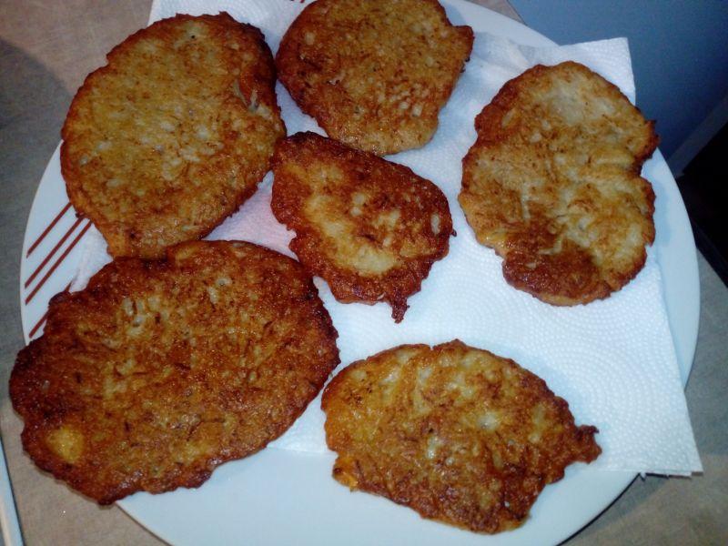 Placki z ziemniaków i patisona