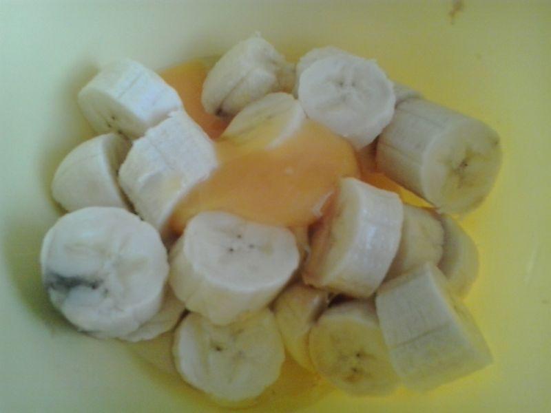 Placuszki bananowe z otrębami pszennymi i owsianym