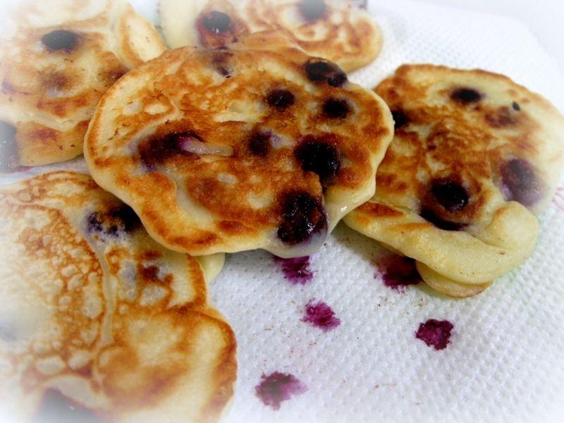 Placuszki z ricotty z winogronami