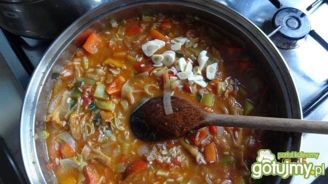 Polędwica wieprzowa z kurkami i ryżem