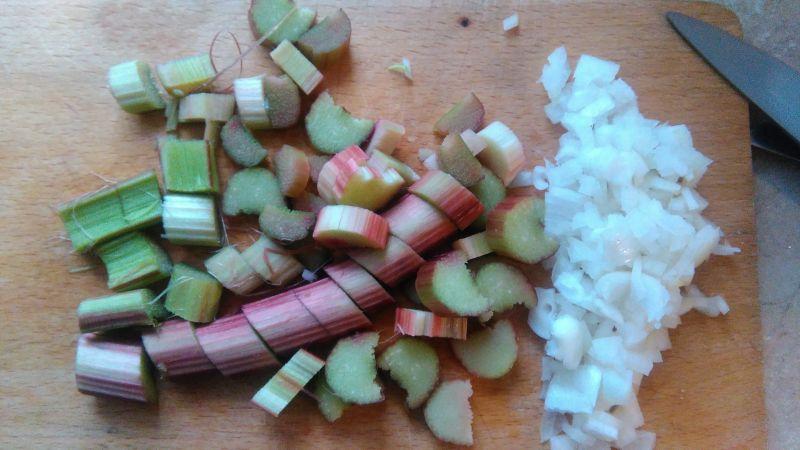 Polędwiczka w botwince z rabarbarowym sosem