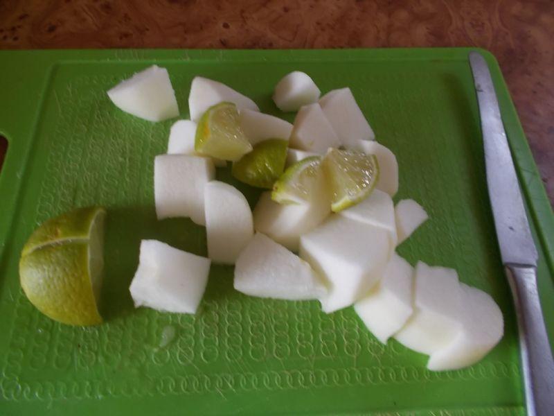 Polędwiczki drobiowe z jabłkiem.