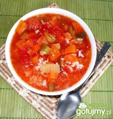 Pomidorowa z pieczoną papryką