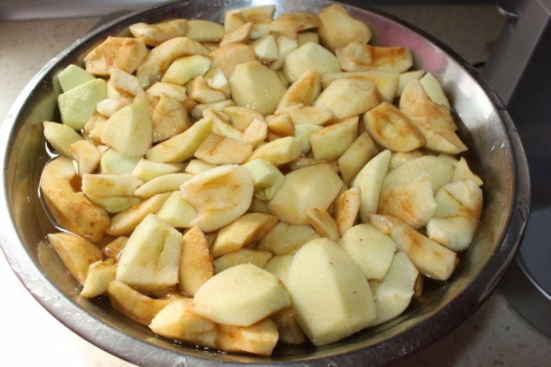 Prażone jabłka do jabłecznika