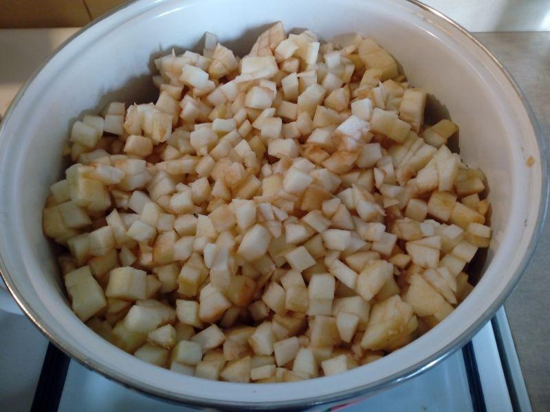 Prażone jabłka do słoików