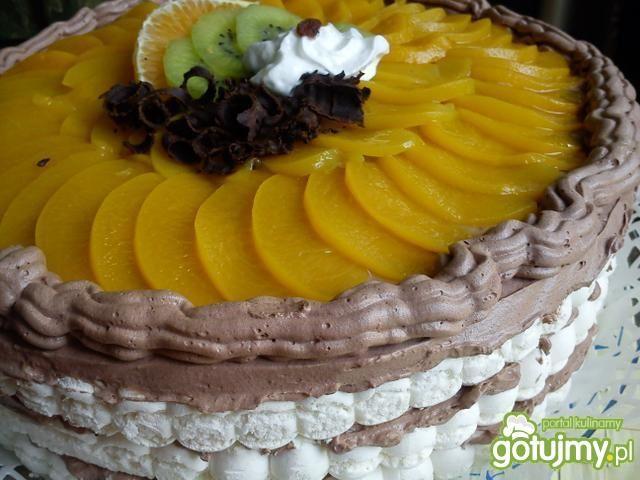 Prosty tort bezowo-czekoladowy