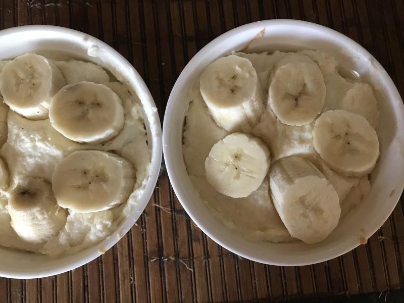 Pudding z niespodzianką i bananem