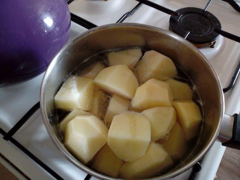 Pure ziemniaczane z groszkiem