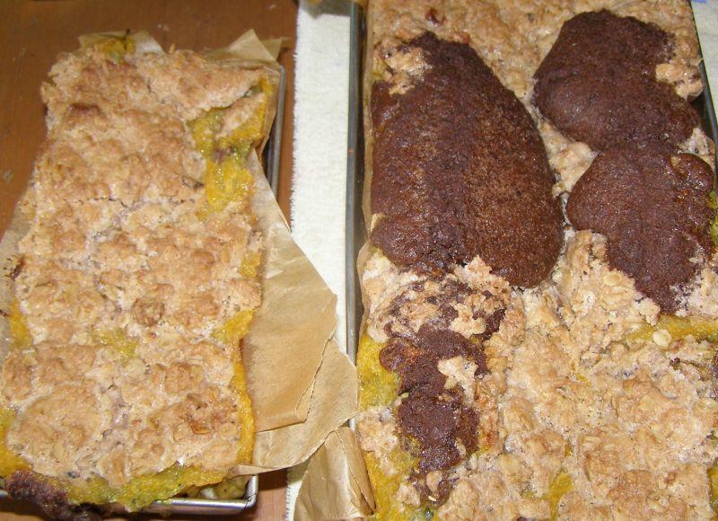 Pyszne ciasto z fasoli czarnej z dynią cukinią.