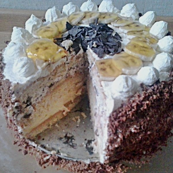 Pyszny tort bananowy