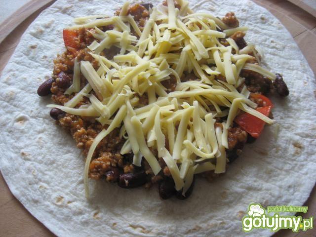 Quesadillas z farszem chili con carne
